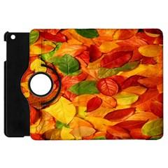 Leaves Texture Apple iPad Mini Flip 360 Case