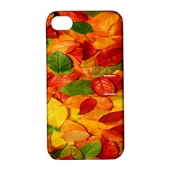 Leaves Texture Apple iPhone 4/4S Hardshell Case with Stand