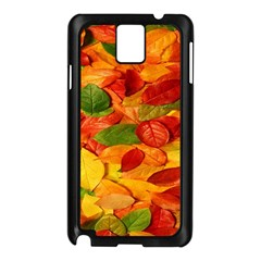 Leaves Texture Samsung Galaxy Note 3 N9005 Case (black)