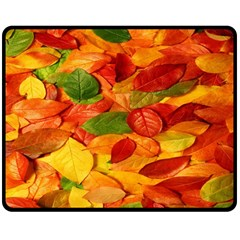 Leaves Texture Double Sided Fleece Blanket (Medium)
