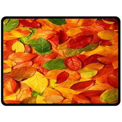 Leaves Texture Double Sided Fleece Blanket (large)