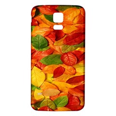 Leaves Texture Samsung Galaxy S5 Back Case (White)