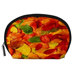 Leaves Texture Accessory Pouches (Large)