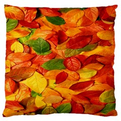 Leaves Texture Large Flano Cushion Case (one Side)
