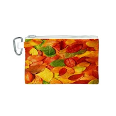 Leaves Texture Canvas Cosmetic Bag (s)