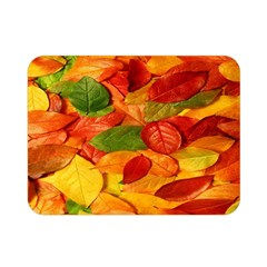 Leaves Texture Double Sided Flano Blanket (mini)