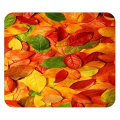Leaves Texture Double Sided Flano Blanket (Small)