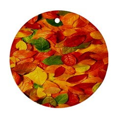 Leaves Texture Ornament (round)