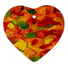 Leaves Texture Ornament (heart)