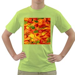 Leaves Texture Green T Shirt