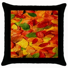 Leaves Texture Throw Pillow Case (Black)