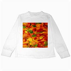 Leaves Texture Kids Long Sleeve T-Shirts