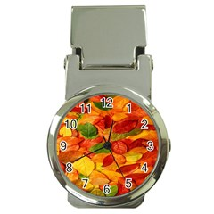 Leaves Texture Money Clip Watches