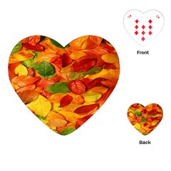 Leaves Texture Playing Cards (heart)