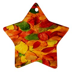 Leaves Texture Star Ornament (two Sides)