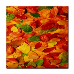 Leaves Texture Face Towel