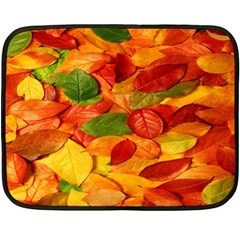 Leaves Texture Double Sided Fleece Blanket (Mini)