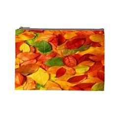 Leaves Texture Cosmetic Bag (Large)