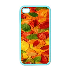 Leaves Texture Apple iPhone 4 Case (Color)