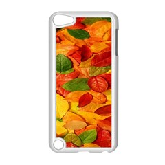 Leaves Texture Apple iPod Touch 5 Case (White)
