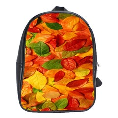 Leaves Texture School Bags (XL)
