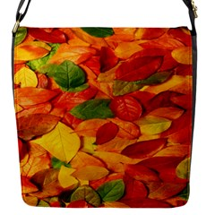 Leaves Texture Flap Messenger Bag (s)