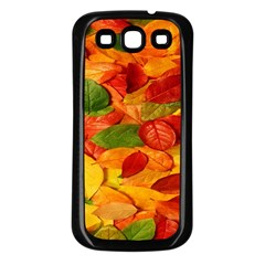 Leaves Texture Samsung Galaxy S3 Back Case (black)