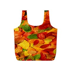 Leaves Texture Full Print Recycle Bags (S)