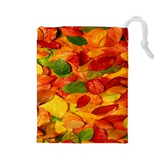 Leaves Texture Drawstring Pouches (Large)