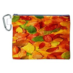 Leaves Texture Canvas Cosmetic Bag (XXL)