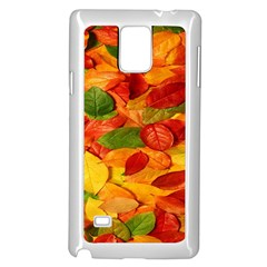 Leaves Texture Samsung Galaxy Note 4 Case (White)