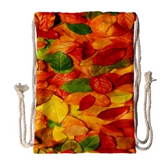 Leaves Texture Drawstring Bag (large)