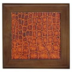Crocodile Skin Texture Framed Tiles