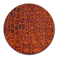 Crocodile Skin Texture Round Mousepads