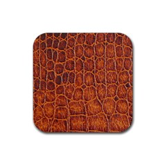 Crocodile Skin Texture Rubber Square Coaster (4 pack)