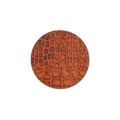 Crocodile Skin Texture Golf Ball Marker