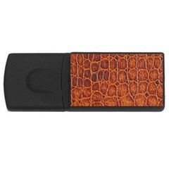 Crocodile Skin Texture USB Flash Drive Rectangular (4 GB)