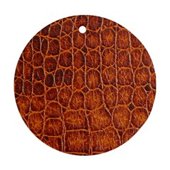 Crocodile Skin Texture Round Ornament (Two Sides)