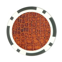Crocodile Skin Texture Poker Chip Card Guard (10 Pack)