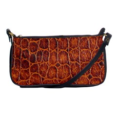 Crocodile Skin Texture Shoulder Clutch Bags