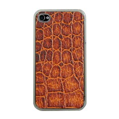 Crocodile Skin Texture Apple iPhone 4 Case (Clear)