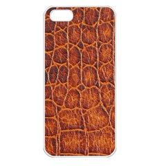 Crocodile Skin Texture Apple iPhone 5 Seamless Case (White)