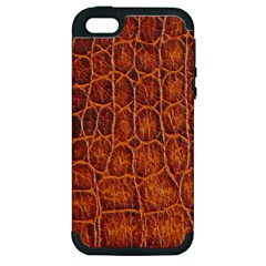 Crocodile Skin Texture Apple iPhone 5 Hardshell Case (PC+Silicone)