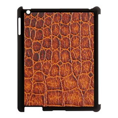 Crocodile Skin Texture Apple Ipad 3/4 Case (black)