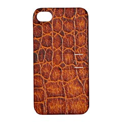 Crocodile Skin Texture Apple iPhone 4/4S Hardshell Case with Stand