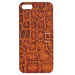 Crocodile Skin Texture Apple Iphone 5 Hardshell Case With Stand