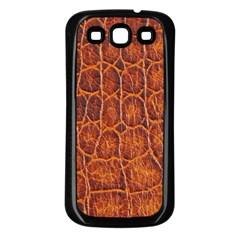 Crocodile Skin Texture Samsung Galaxy S3 Back Case (Black)