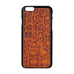 Crocodile Skin Texture Apple iPhone 6/6S Black Enamel Case