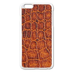 Crocodile Skin Texture Apple iPhone 6 Plus/6S Plus Enamel White Case
