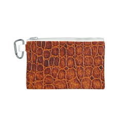 Crocodile Skin Texture Canvas Cosmetic Bag (S)